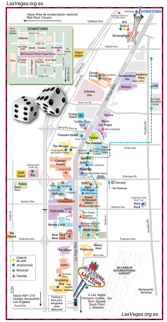 Mapa Strip Las Vegas